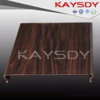 Buy cheap Wooden Grain Perforated Metal Ceiling Panels Fireproof C Shape from wholesalers