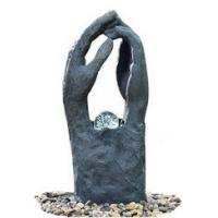 Quality Modern Garden Fountains / Decorative Indoor Water Fountains In 2 Hands Shape for sale