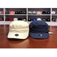 Wholesale Blue White 100% Cotton 6 Panel 58cm Military Army Caps from china suppliers