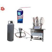 Wholesale Lubricant Spray Semi Automatic Aerosol Filling Machine , Spray Paint Can Filling Machine from china suppliers