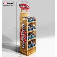 Wholesale 3 Seconds Catch Clients Wooden Beer Display Racks Wine Merchandising Displays from china suppliers