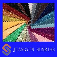 Wholesale Glitter Textile PVC Synthetic Leather Fabric With Polyeater Backing from china suppliers