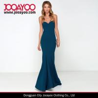 Wholesale Women Latest Dress Design Pure Color Strapless Bodycon Maxi Cocktail / Prom Dress from china suppliers