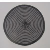 Wholesale Black Polyester placemat , roung polyester placemat, knitting round placemat from china suppliers