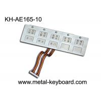 Wholesale 10 Keys Waterproof Metal Keypad with Top Panel Mounting Solution from china suppliers
