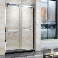 Wholesale 304# Stainless Steel Frame Double Sliding Shower Door from china suppliers