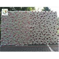 Wholesale UVG 8ft high pink realistic fake roses wedding flower wall backdrops for photography from china suppliers