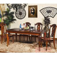 Dining room furniture extendable table solid wood dining for Furniture 80s band