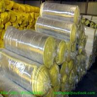Wholesale Hot sales 10kg/m3 50mm glass wool blanket with Aluminium foil from china suppliers