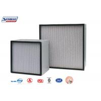 Wholesale H13 H14 Air Purifier Hepa Filter Fiberglass Media Panel Pleated Exhaust from china suppliers
