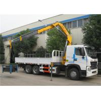 Buy cheap Sinotruk HOWO A7 6x4 Truck Mounted Crane 25 Tons Cargo Mounted Straight Arm Crane from wholesalers