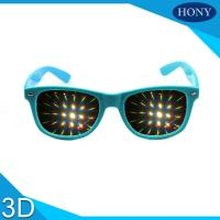 Wholesale Durable Plastic Red 3D Firework Glasses 0.65mm Lens PC Frame from china suppliers