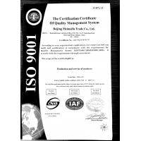 Beijing Meimeifu Trade Co., Ltd. Certifications