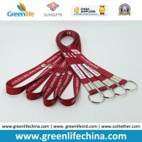 Wholesale Fashion Design Eco-friendly Logo Flat Lanyard with Split Key Ring Factory Directly Cheap Price from china suppliers