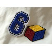 Wholesale Personalized Embroidered Number Patches , Iron On Embroidered Letter Patches from china suppliers