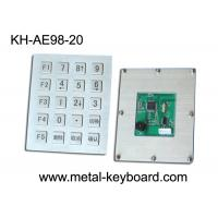 Wholesale 20 Keys Stainless Steel Industrial Keyboard with USB or PS/2 interface from china suppliers