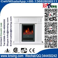 Wholesale log burning flame electric fires stoves fireplace heater EF342B elektrische sfeerhaard firebox with mantel room heater from china suppliers