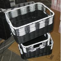 Wholesale China Manufacture Square Plastic Rattan Storage Basket/fruit basket/ sundry basket from china suppliers