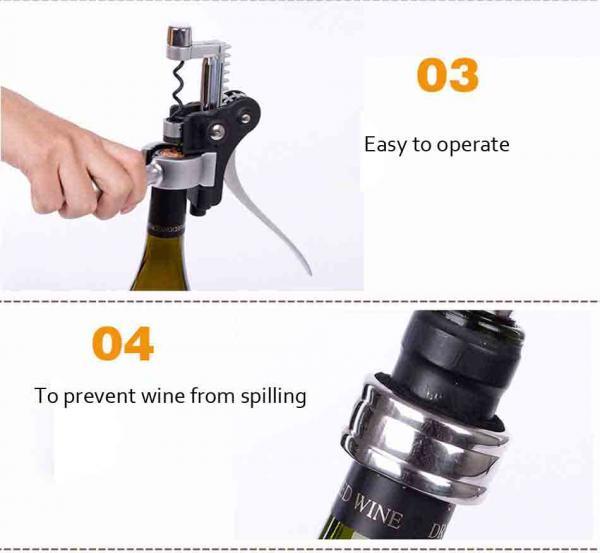 High Grade Gift Wine Tools Rabbit Wine Opener Set Zinc Alloy Corkscrew Rabbit Wine Bottle Opener