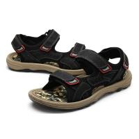 Wholesale Comfortable Mens Black Leather Sandals , Mens Sport Sandals EUR 39-46 Size from china suppliers
