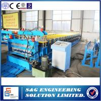 Wholesale Galvanized Steel Double Layer Roll Forming Machine With HRC50 - 60 Heat Treatment from china suppliers