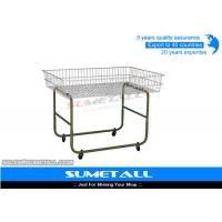 Wholesale Movable Metal Wire Storage Baskets Wire Promotion Table With 4 Wheel from china suppliers