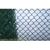 Wholesale Stainless Steel PVC Coated Fence Wire Mesh , Green Pvc Coated Chain Link Fencing from china suppliers