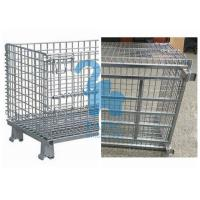 Wholesale Industrial Welded Wire Mesh Storage Cages Folding Structure For Shipping Container from china suppliers