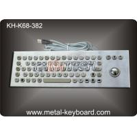 Wholesale Kiosk Self - Service Terminal Metallic Industrial Keyboard with Trackball , USB from china suppliers