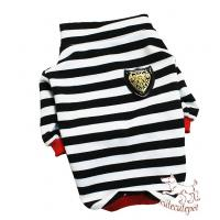 Quality Strip dog shirt, red and black colors, 5 sizes at choice for sale