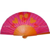 Wholesale Parties And Weddings Folding Wooden Hand Fan With Transfer Printing from china suppliers