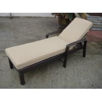 Wholesale Outdoor Garden Sunlounger , Black Foldable Beach Lounge Chair from china suppliers