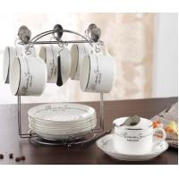 Quality European ceramic coffee cup sets 6pcs for sale