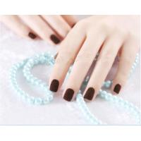 Wholesale Salon Brown Artificial Nail Fashionable False Fingernails ABS Plastic from china suppliers