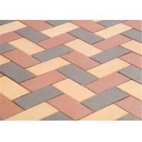 Wholesale Customized Red Clay Brick Pavers , Concrete Driveway Pavers Sintered / Extrusion from china suppliers