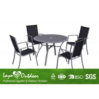 Home Outdoor Furniture 5 PCS Alum Dining Table Sets For Garden UV Protection