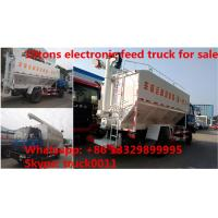 Buy cheap 2018s dongfeng 190hp diesel 20m3 livestock and poultry feed truck for sale, best price 10tons feed transported truck from wholesalers