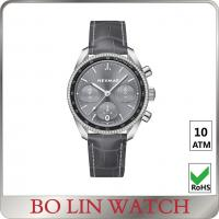 Wholesale Shower waterproof mens dress watches grey color with CNC diamonds from china suppliers