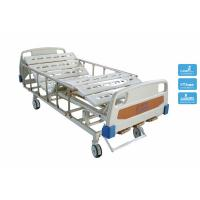 Wholesale Medicare Adjustable Double Crank Manual Hospital Bedding with Wheels and Rails from china suppliers