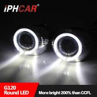 Quality Iphcar new product high brightness light guide angel eyes 3.0 inch hid bi xenon projector lens for automotive motorcycle for sale
