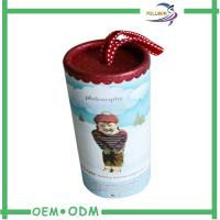 Wholesale OEM Round Cardboard Box Gift Cylinder Gift Box Packing Cosmetic from china suppliers