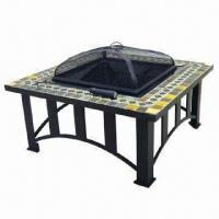 Wholesale 34-inch Square Slate Firepit, 23 x 23-inch Firebowl Sized from china suppliers