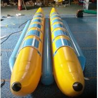 Buy cheap 0.9mm PVC Inflatable Banana Boat , Inflatable PVC Water Banana Boat with 12 Seats from wholesalers