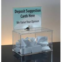 Wholesale POP plexiglass acrylic donation money box with lock and key from china suppliers