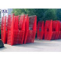 Steel Storage Tire Pallet Rack Foldable Portable Powder Coated For Industrial