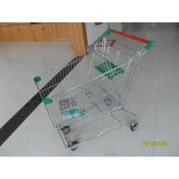 Quality Zinc Plated Low Carbon Steel 125L Wire Shopping Trolley On Casters for sale