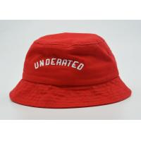 Quality Unisex Red Fishing Bucket Hat Official 3D Puff Embroidery 56 - 60 Cm for sale
