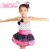 Wholesale Sweet Heart Neckling Tiered Layered Skirt Polka Dots Children'S Dance Costumes from china suppliers