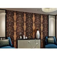 Wholesale Luxury Waterproof Velvet Flock Wallpaper for Living Room , SGS CSA Certification from china suppliers
