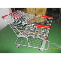 Wholesale 180L Metal Grocery Shopping Trolley E Coating With Flat Casters from china suppliers